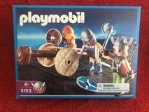 playmobil 3153 viking warriors with battering ram in Joliet, Illinois