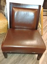 Living Room Chair Accent Armless Smooth Brown Leather style in Phoenix, Arizona