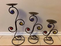 Wrought iron candle stands with jewels in Westmont, Illinois