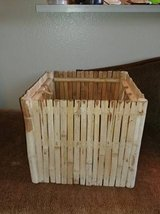 Wood box bamboo style storage in Phoenix, Arizona