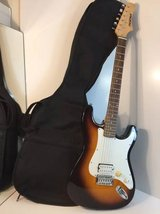 First Act ELECTRIC GUITAR Double Cutaway Stratocaster Style/Case 6 Str in Chicago, Illinois