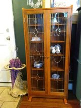Leaded Glass Display Cabinet in Lockport, Illinois