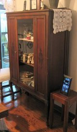Antique Cabinet for China, Crystal, Collectibles, etc. in Naperville, Illinois