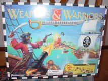 WEAPONS AND WARRIORS PIRATE BATTLE PLAYSET GAME BY PRESSMAN Vintage in Elgin, Illinois
