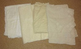 4 Vintage Lace Crochet Tablecloths in Chicago, Illinois