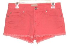 Juniors 7 Roxy Coral Cut Off Denim Jeans Mini Shorts Womens 7 Juniors 7/28 in Yorkville, Illinois