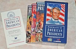 Vintage 1992 Portraits Of American Presidents VHS Box Set 3 Tapes + Booklet NBC in Chicago, Illinois