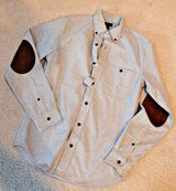 NWT - J.Crew Gray Cotton Heathered Shirting w/Suede Elbow Patches, X-Small in Oswego, Illinois