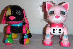 Like New!  Zoomer Interactive Robot Dog + Cat by Spin Master in New Lenox, Illinois