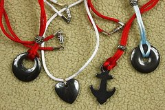 set of 4 necklaces for kids - cool shapes on satin cord in Kingwood, Texas
