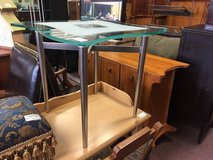 Modern Glass Side Table in Naperville, Illinois