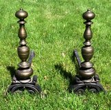 Vintage Fireplace Andirons Set in Chicago, Illinois