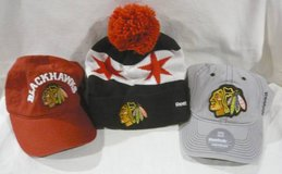3 Blackhawks Hats - Offically Licensed in Chicago, Illinois