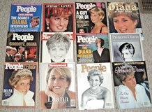 RARE Vintage 1997 Lot of 12 Princess Diana Magazines Newsweek People Time Specia Collector's Issues in Joliet, Illinois
