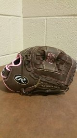 Rawlings Flash Series 11 inch Fastpitch Glove RHT Pink/Brown FP110 in Fort Campbell, Kentucky