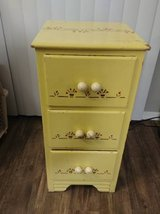 Yellow artsy  small 3 drawer small dresser side table in Phoenix, Arizona