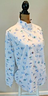 St. John's Bay White Mock T-Neck Snowman/Trees, Cotton, XXL in Joliet, Illinois