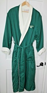 Warm & Cozy Green Long Robe, Belted, Terry Lined, LG - Lodge on Lake Lure in  NC in Joliet, Illinois