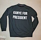 "Akira Chicago Red Label ""Kanye for President Sweatshirt, Black, Large in Westmont, Illinois"