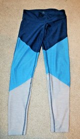 Champion Leggings- Tri Color Blue/Lt Blue/Gray, Small in Joliet, Illinois