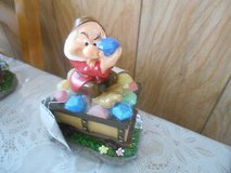 "New Disney Snow White's Dwarf Solar Garden Gnome w/ Treasure Chest!   ""GRUMPY"" in Bellaire, Texas"