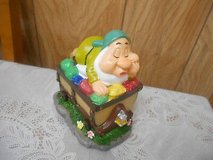 "New Disney Snow White's Dwarf Solar Garden Gnome w/ Treasure Chest! ""SLEEPY"" in Bellaire, Texas"