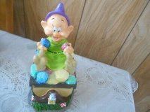 "New Disney Snow White's Dwarf Solar Garden Gnome w/ Treasure Chest!  ""DOPEY"" in Bellaire, Texas"