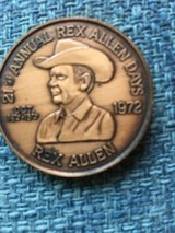 1972 Rex Allen Days Rodeo 21st anniversary token in Quantico, Virginia