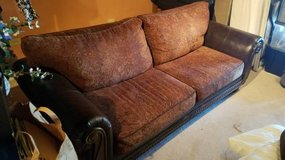 Brown Couch and Over Stuffed Chair in Bolingbrook, Illinois