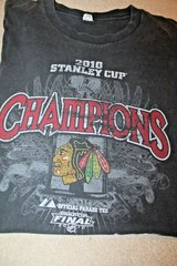 Chicago Blackhawks 2010 Stanley Cup Champions SS Official Parade Tee, Black, LG in Joliet, Illinois