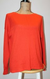 TOPSHOP Acrylic/Wool Orange Sweater w/Design Details on Shoulders/Hips, Sz 6 in Glendale Heights, Illinois