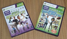 Microsoft Xbox 360 Kinect Sports Season 1 AND 2 Bundle Video Game Lot in Joliet, Illinois