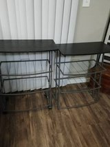 2 wood and metal light weight Shelves/racks in Phoenix, Arizona