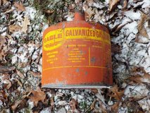 Vintage Eagle galvanized Gasoline can in Great Lakes, Illinois