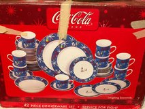 Price reduction--Coca Cola Laughing Snowman dinnerware in Fort Hood, Texas