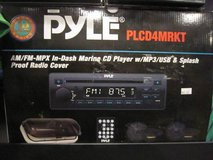 PYLE AM/FM-MPX In-Dash Marine CD Player w/MP3/USB&Splash in Brookfield, Wisconsin