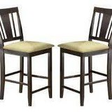 Set of (2) Non-Swivel Counter Stools (Espresso) - NEW in Box at Level in Brookfield, Wisconsin