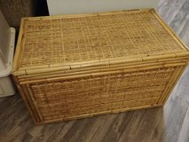Rattan Wicker Bamboo Storage Chest in Phoenix, Arizona