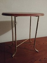 Very small stand with wood top and gold style legs in Phoenix, Arizona