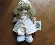 Vintage Precious Moments Doll Dawn In Nightgown Robe Cap Slippers #1057 in Warner Robins, Georgia