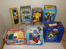 LOT OF 6 M & M Collectible Dispensers in Naperville, Illinois