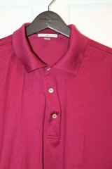 PETER MILLAR Claret Red Cotton Polo, Large -- EUC!! in Westmont, Illinois