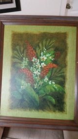 Framed Floral Print on Canvas by Vivian Flasch in Kingwood, Texas