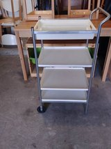 Ikea 4 Tier utility cart rolling white in Phoenix, Arizona
