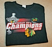 Chicago Blackhawks Stanley Cup Champions 2013 Tee, Large in Joliet, Illinois