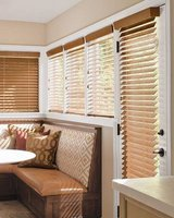 """Like New! (1) Smith & Noble Oak Wood Blinds 63""""W x 46""""H in Westmont, Illinois"""
