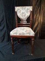Vintage Wooden Chair with Floral Upholstery in Camp Pendleton, California