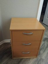 3 drawer maple style storage with nickle pulls in Phoenix, Arizona