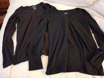 Two long sleeve stretchy black new shirts in Camp Pendleton, California