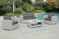New! 4-Pcs Outdoor Set Loveseat, 2 Chairs and Table. Free Delivery in Camp Pendleton, California